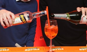 afd266f6a31 'Aperol spritz, a mix of prosecco and an aperitif made with orange, gentian  and rhubarb. If you haven't tried it, you must.' Photograph: Manchester  United/ ...