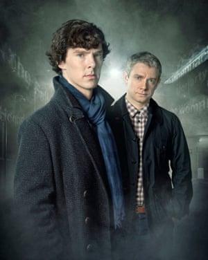 Cumberbatch with Sherlock co-star Martin Freeman.