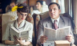 Jessica Raine as Tuppence and David Walliams as Tommy in The Secret Adversary (episode 1), Partners in Crime on BBC1.