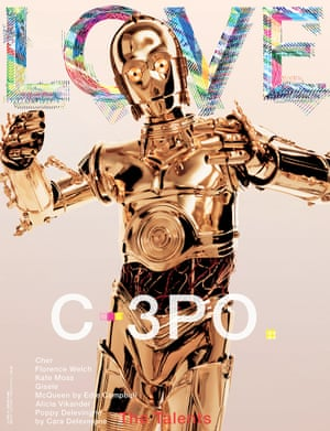 The cover of the latest issue of Love.
