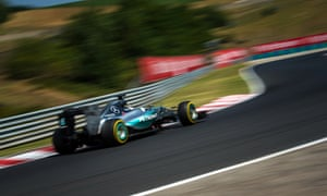 Lewis Hamilton during practice at the laterst round of the Formula One championship in Hungary.