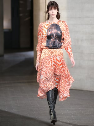 Preen turns to the dark side, plastering tops and tunics with menacing Darth Vader headshots.
