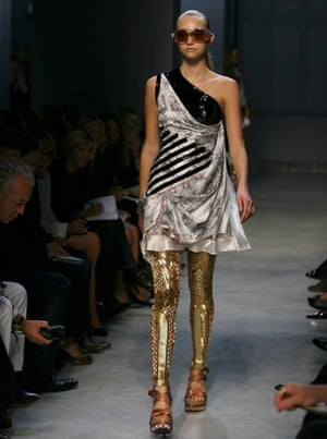 Balenciaga's gold leggings were pure Tatooine humanoid.