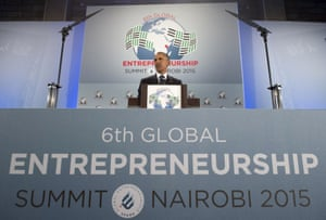 Obama speaks during the Global Entrepreneurship Summit.