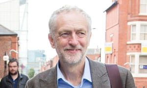 Jeremy Corbyn arriving for the Labour leadership hustings at Warrington's Pyramid Parr hall.