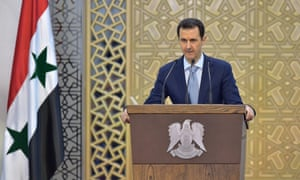 Bashar al-Assad delivers a speech in Damascus, Syria – his first public address in a year.