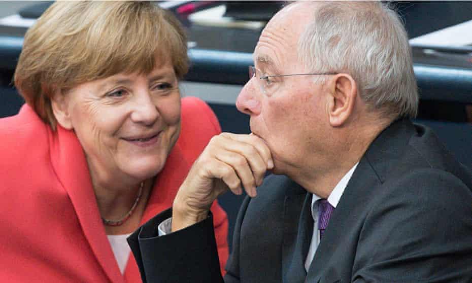 Angela Merkel and Wolfgang Schauble