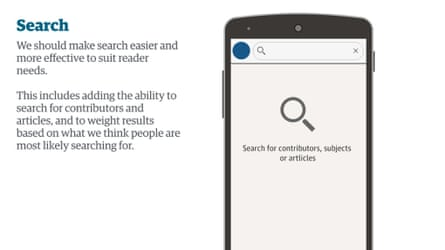 A revised search to make it much easier for readers to find contributors, articles or subjects.