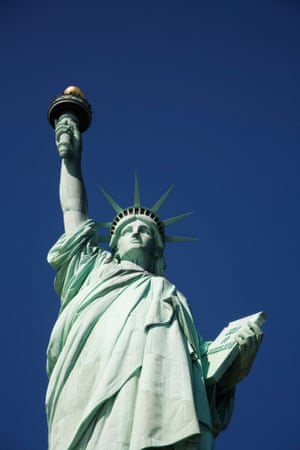The copper-clad Statue of Liberty.