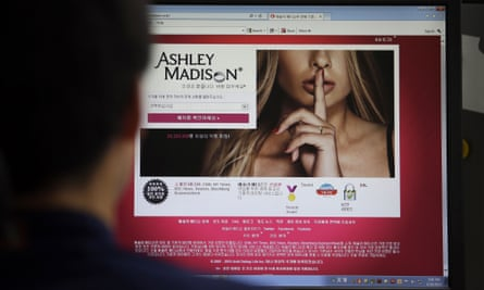 Ashley Madison's Korean web site is shown on a computer screen in Seoul, South Korea. The company suffered a massive hack in mid-July.