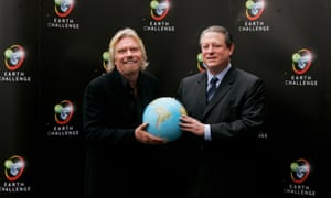 Richard Branson and Al Gore
