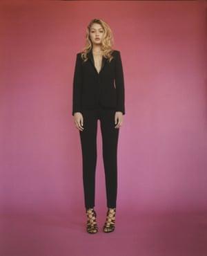 Gigi Hadid in her Topshop tuxedo