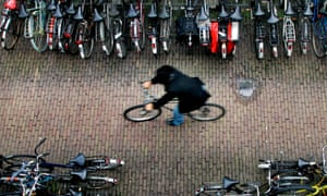 Bicycle shed in Amsterdam.