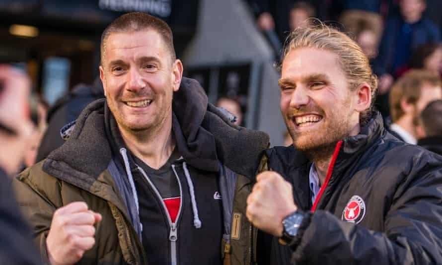 Matthew Benham, left, took a controlling interest in FC Midtjylland in July 2014