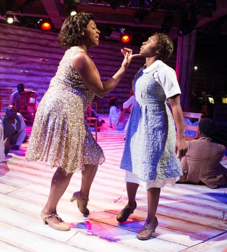 Nicola Hughes and Cynthia Erivo in the 2013 Menier Chocolate Factory production of The Color Purple