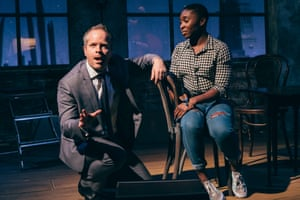 Damian Humbley and Cynthia Erivo in Songs for a New World at St James theatre, London.
