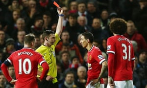 Ángel Di María's red card for pushing the referee, Michael Oliver, which earned him a second booking in an FA Cup tie against Arsenal, was the low point of his Manchester United career.