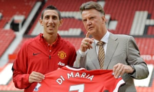 Louis van Gaal actively recruited Ángel Di María. He talked up the Argentinian before signing him but often talked him down after that.