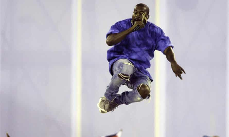 Touching the sky: Kanye West closes the Pan Am Games.