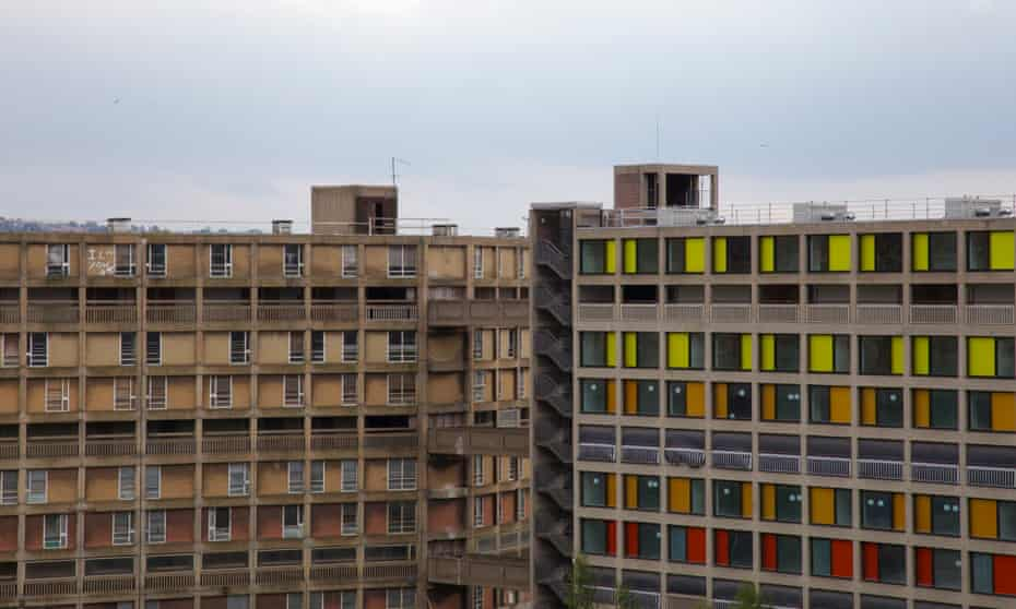Old and new, Park Hill estate