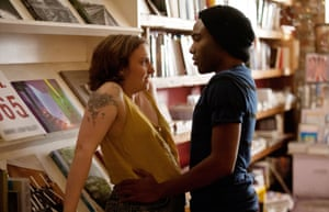 Lena Dunham and Donald Glover in Girls.