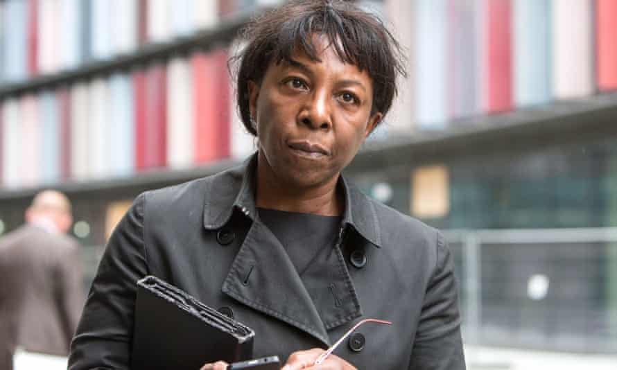Constance Briscoe arrives at the Old Bailey.