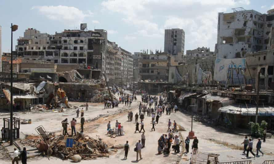 Devastation in Homs, Syria