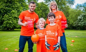 The Barnley family have become top fundraisers for Muscular Dystrophy UK.