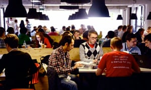 The cafe at Campus London where tech entrepreneurs find inspiration.