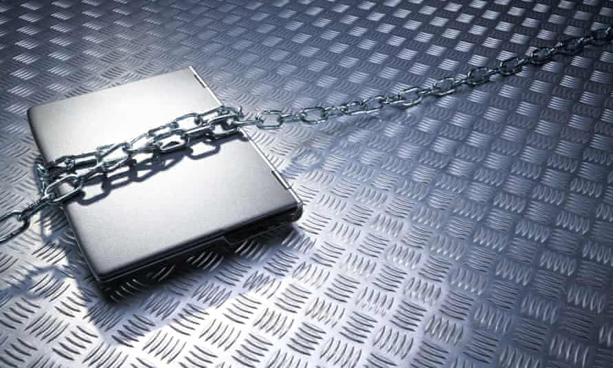 Computer in chains
