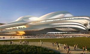 Zaha Hadid's design for Japan's national stadium, the main venue for the 2020 Tokyo Olympics.