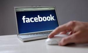 Facebook on a laptop