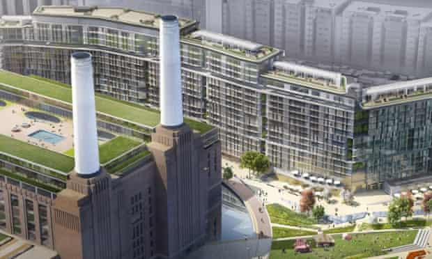 The proposed redevelopment of Battersea Power Station, which will be a privately owned public space.