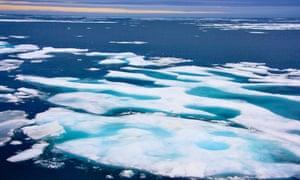 Sea ice in the Northwest Passage.