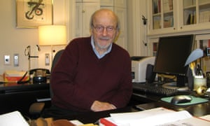 EL Doctorow at his New York office.
