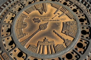 <strong>Berlin, Germany<br></strong>Covers for Berlin Waterworks, designed in 2005, feature some of the city's landmarks, including the TV Tower and the Brandenburg Gate