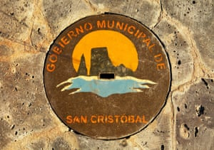 <strong>San Cristobal, Ecuador<br></strong>The drainage cover features the municipal emblem