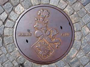<strong>Malmö, Sweden<br></strong>The sewer lid features the city's coat of arms