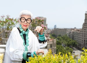 Iris Apfel photographed for The Observer Magazine.