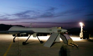 A predator drone in Kandahar, southern Afghanistan.