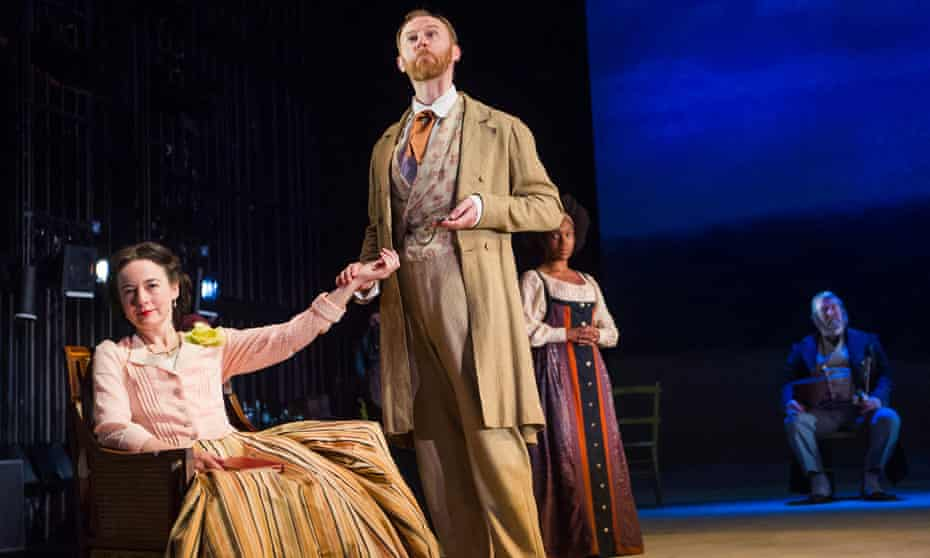 Mark Gatiss as Shpigelsky and Amanda Drew as Natalya in Three Days in the Country.