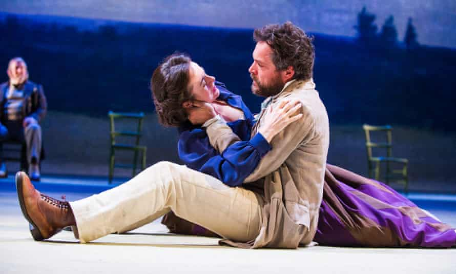John Light as Arkady and Amanda Drew as Natalya in Three Days in the Country.