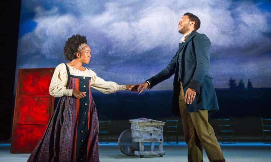 Cherrelle Skeete as Katya and Royce Pierreson as Belyaev in Three Days in the Country.