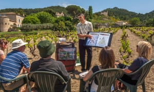 Wine tasting holiday around the vineyards of Gigondas AOC. Vaucluse, Provence-Alpes-Cote dAzur region, France