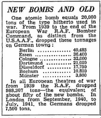 The Manchester Guardian, 7 August 1945.