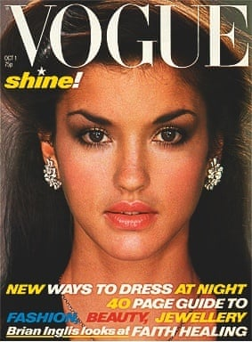 Janice Dickinson on the cover of Vogue, October 1978