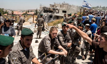 Israeli settlers in Beit El, the West Bank