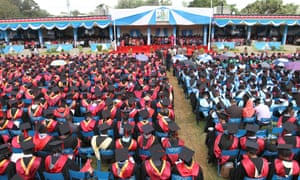 Graduation ceremony at the university of Kenya