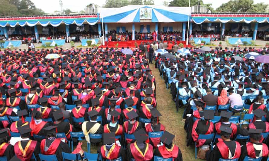 Graduation ceremony at the university of Kenya