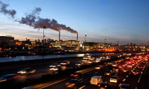 Water vapour billows from smokestacks at the incineration plant of Ivry-sur-Seine in the outskirts of Paris.